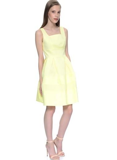 Darling Askılı Kloş Elbise Sarı